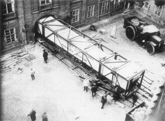 Plečnik, obelisk, transport 1926