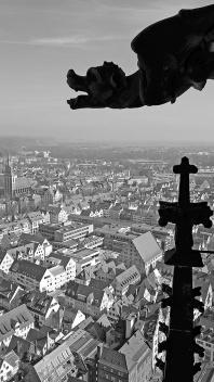 Ulm, Münster, Waterspuwer