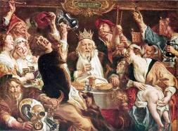 Driekoningen, J. Jordaens, De koning drinkt, Brussel