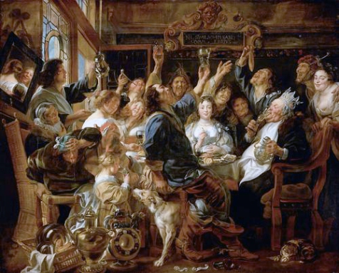 Driekoningen, J. Jordaens, De koning drinkt, Wenen