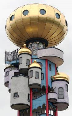 Erker F. Hundertwasser, Kuchlbauerturm