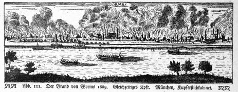 1689 Franse verwoesting van Worms