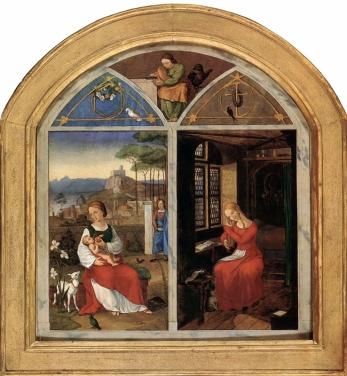 Nazareners, Franz Pforr, Sulamith und Maria, 1811