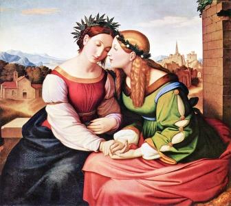 Nazareners, Friedrich Overbeck, Italia en Germania, 1828