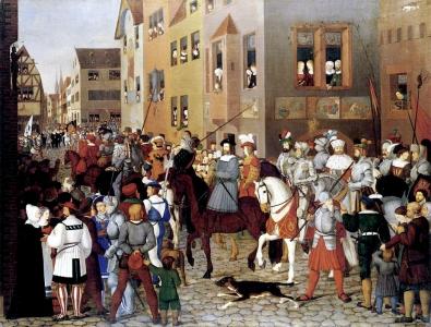 Nazareners, Franz Pforr, De intrede van keizer Rudolf van Habsburg in Bazel, 1809-10