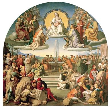 Nazareners, Friedrich Overbeck, De triomf van de religie in de kunst, 1840