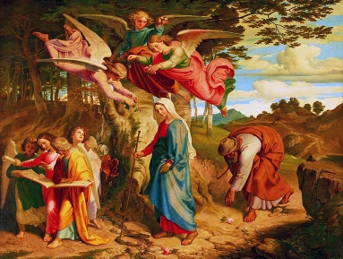 Nazareners, Joseph von Fuehrich, Der Gang Mariens über das Gebirge, 1841