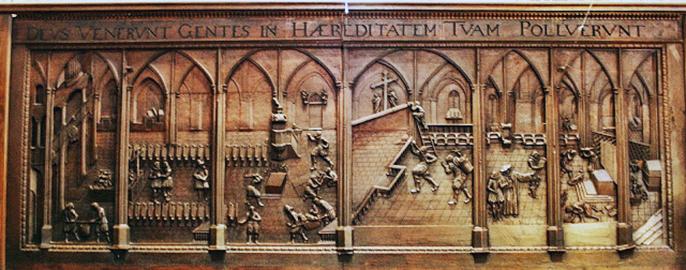 Prager Dombild, houten paneel van de kalvinistische beeldenstorm