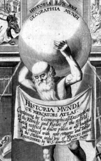 Mercator Atlas Historia Mundi - detail