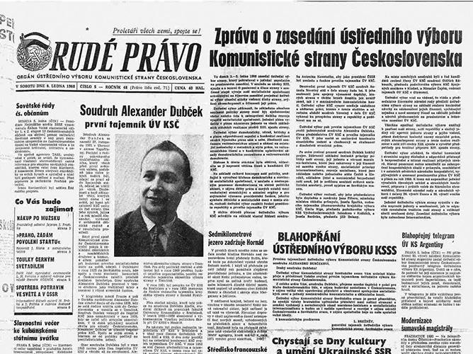 Praagse Lente, Rudé Pravo, januari 1968